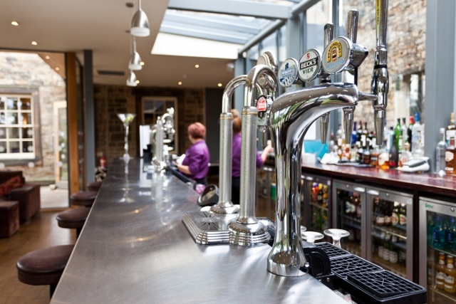 The Bar: Taps and counter.
