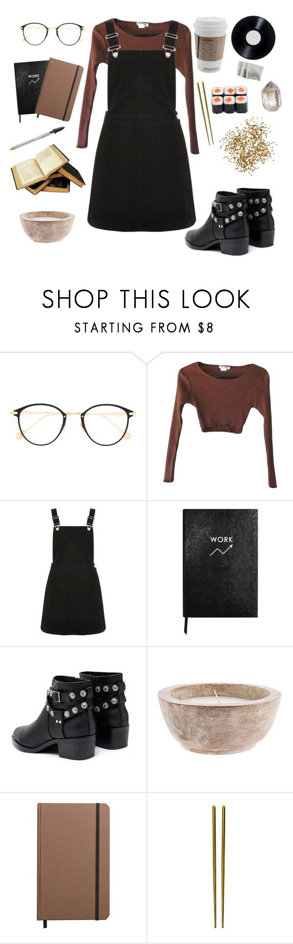 """working it out"" by youvegotraye ❤ liked on Polyvore featuring Frency & Mercury, Oasis, Sloane Stationery, Senso, Shinola and Mepra"