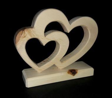 Holzdekoration   Zirbenherz für Verliebte