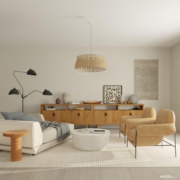 Interior Tropical, Online Interior Design Services, Living Room Storage, Organic Modern, Living Room Designs, Living Spaces, Modern Decor, Modern Design, Modern Furniture