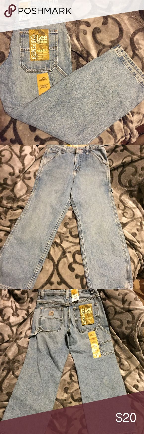 New Lee Dungarees carpenter jeans New with tags. Adjustable waistband inside, sits below the waist, loose seat and thigh, straight leg Lee Dungarees Bottoms Jeans