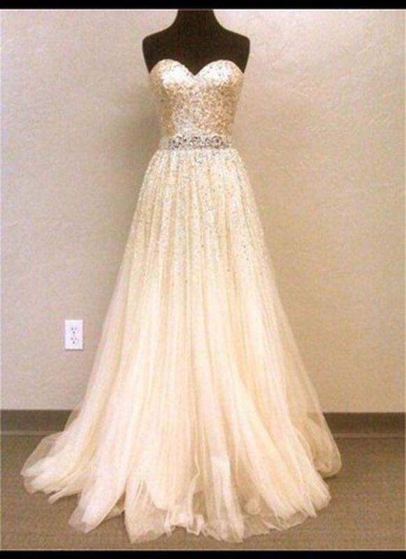 Pd246 A-Line Prom Dress,Sequined Prom Dress,Sweetheart Prom Dress,Dress for Prom