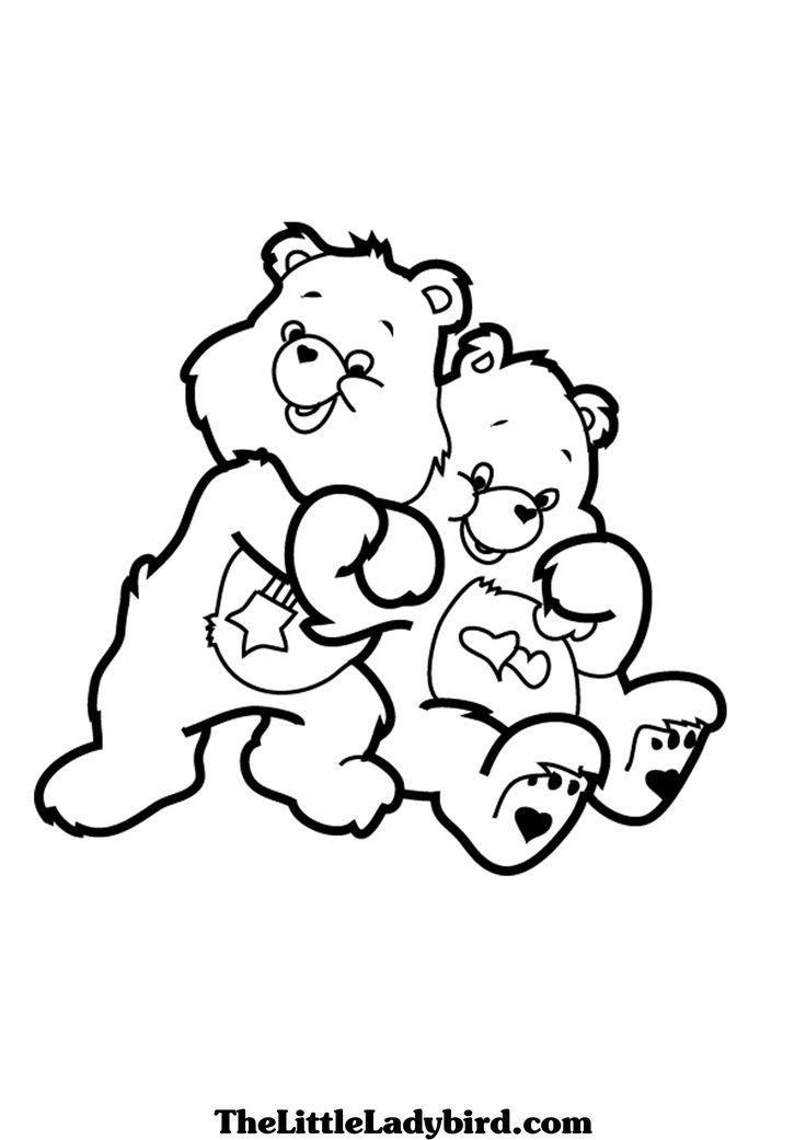 Care Bears Love a Lot Hugs Coloring printable page Bear