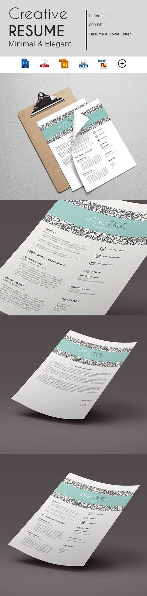 Gabellare | Get into action and make a great first impression with our resume template.  During a job search, your resume plays a major role. If you just started searching for a job or simply looking to brand yourself with the professional look your employers are hoping for, make sure you give a great impression with an eye catching resume design.