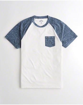 crewneck pocket t shirt heather navy and white shirts