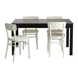 IKEA   BJURSTA / IDOLF, Table And 4 Chairs, Extendable Dining Table With 2  Extra Leaves Seats Makes It Possible To Adjust The Table Size According To  Need.