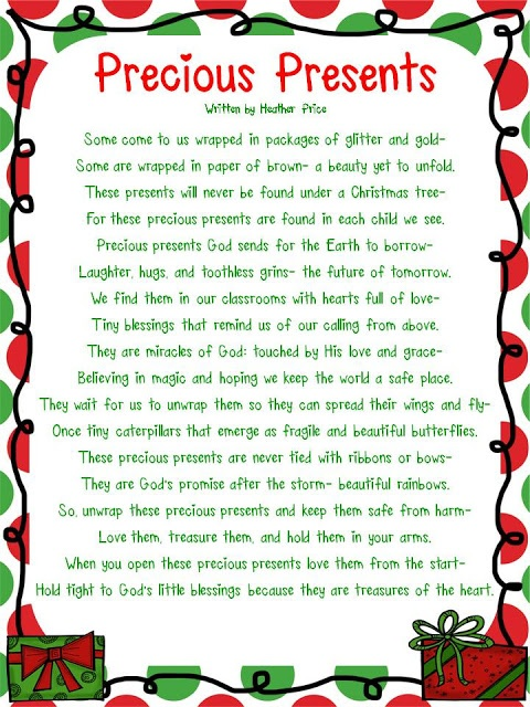 poem about children...precious presents