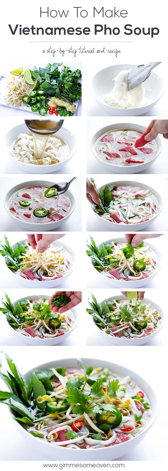 Vietnamese Pho Soup Recipe - so easy to make homemade! | gimmesomeoven.com #soup