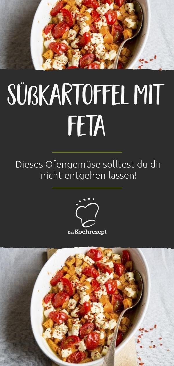 Cremige Süßkartoffel, dazu würzigenFeta und saftige Kirschtomaten –dieses Ofengemüsesolltest du dir nicht entgehen lassen. Schnell und ein… – Sweet Potato | Süßkartoffel | Kumara Rezepte