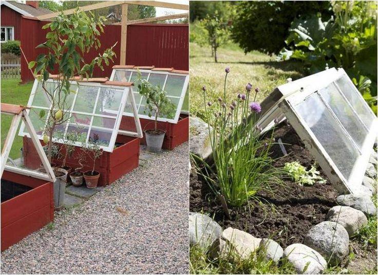 Dans cet article nous vous présentons 50 idées déco jardin originales.Réutilisez les vieilles portes et fenêtres en les transformant en objets décoratifs et