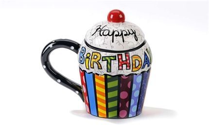 Romero Britto Happy Birthday Mug