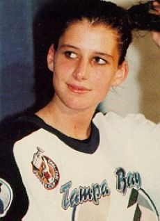 Manon Rheaume became the first female to play professional hockey when she signed on to play goalie for the Tampa Bay Lightning, she became the first, and to date, only, woman with a professional hockey contract.