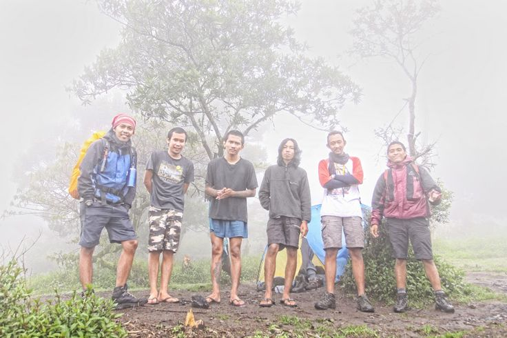 all crew in Pos 2 Pendakian Merbabu, from Atmajaya University, Jogja