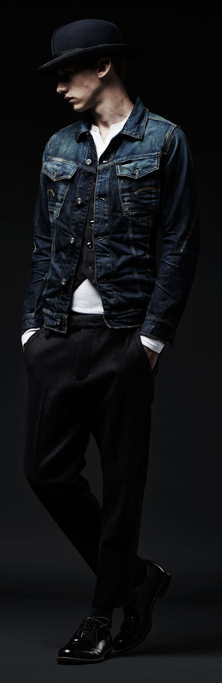 The next time your invited for last minute drinks, go for classic menswear styling with denim details fit for a banquet