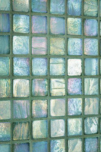 sea-glass tiles for the bath...