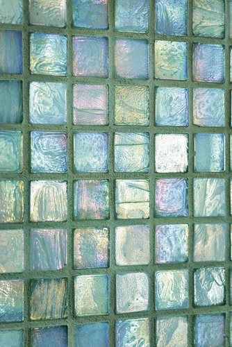 sea-glass tiles for the bath...