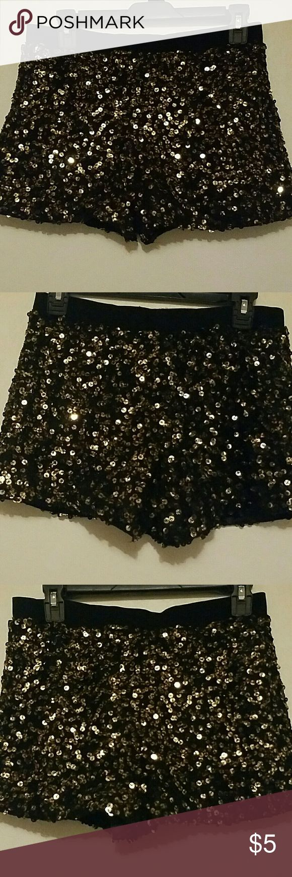Gold and black sequin shorts Gold and black sequin shorts Shorts