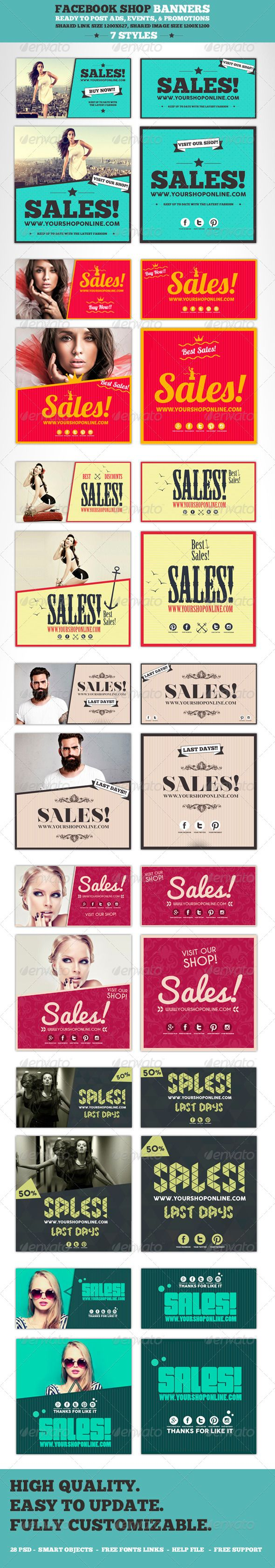 Facebook Post Banners - Banners & Ads Web Elements | Download: https://graphicriver.net/item/facebook-post-banners/8545243?ref=sinzo