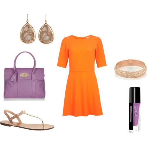 How to match orange and radiant orchid