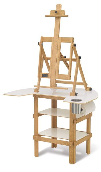 Plans painting easel A Portable Work Space for Arts and Crafts Like many artists crafters and modelers I do not have a permanent studio and I often us