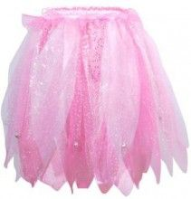 Tiny bells on this pixie skirt will ensure you hear your little pixie playing in the garden.  The multi-coloured skirt with elasticised waistband is made from wonderful jaggered layers of netting with sparkle detail to achieve a real pixie look!  Finish the look with the matching Sparkling Pixie Top in Pale Pink