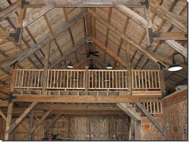 The loft pole barn buildings by barnbuildingnet via for Steel buildings with lofts for living quarters