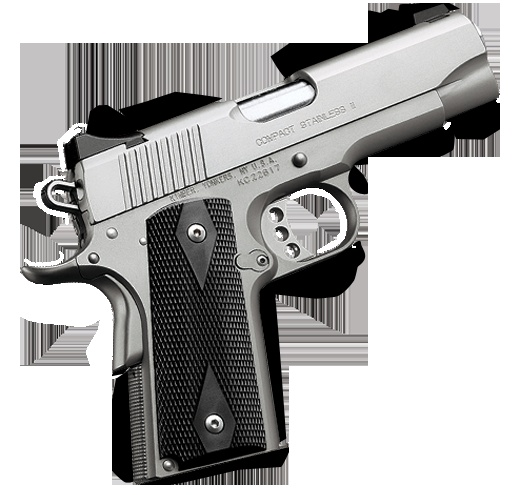 Kimber 1911 Compact Stainless II - A lightweight pistol with short barrel and grip for easy all-day-every-day carry.