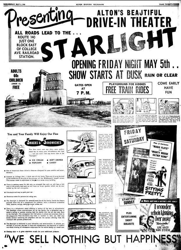 Starlight Drive-In Newspaper ad