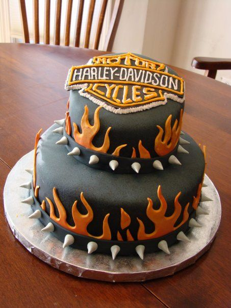 harley davidson cakes pictures   Harley Birthday Cakes