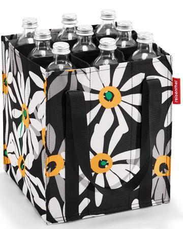 Reisenthel для бутылок Bottlebag margarite  — 572р. ------------ Сумка-органайзер для бутылок Reisenthel Bottlebag margarite имеет 9 отделений для бутылок объемом до 0,75 литра, по бокам две ручки для переноски, соединяемые между собой липучкой. Легко складывается для компактного хранения.