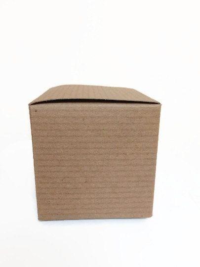 "Small Brown Kraft Box Wedding Favor Box Small Kraft Box Jewelry Box Rustic Favor Box Packaging Gift Box 3""x3""x3"" - Pack of Five by JulemiJewelry on Etsy"