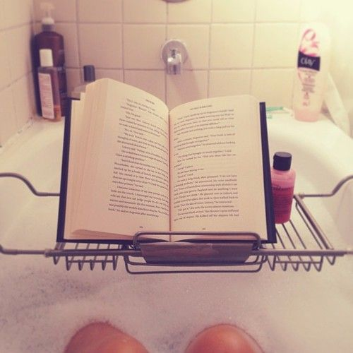 Bubble baths and a good book. Refreshing and reinvigorating.