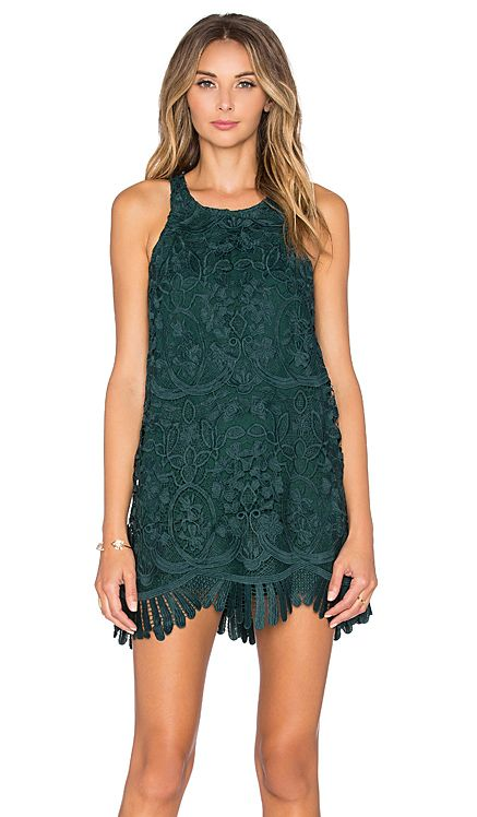 Lovers + Friends x REVOLVE Caspian Shift Dress in Hunter Green | REVOLVE