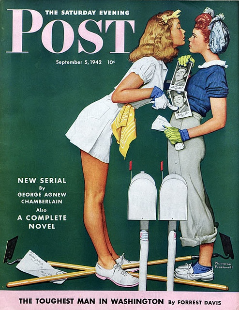 cMag342 - The Saturday Evening Post Magazine cover by Norman Rockwell / September 1942