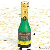Personalized Mini Champagne Bottle Confetti Poppers