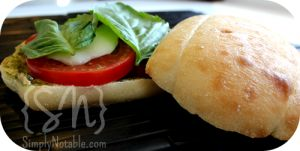 Caprese Sandwich Recipe.  Similar to Starbucks Panini.  Can't wait to make this.  Love, love, love the SB version...