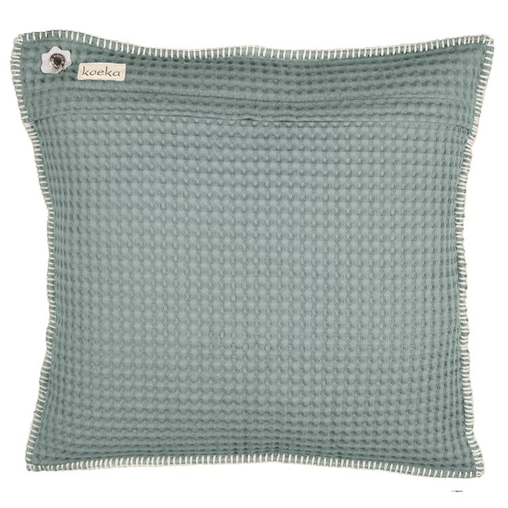 One of our bestsellers. Waffle cushion cover Oslo 50x50 cm   Koeka webshop (sapphire)