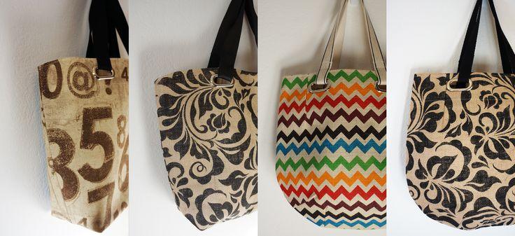 My latest market totes for SS15 coming soon.   Jute cotton handmade handbag montreal designer bagmaker canadian