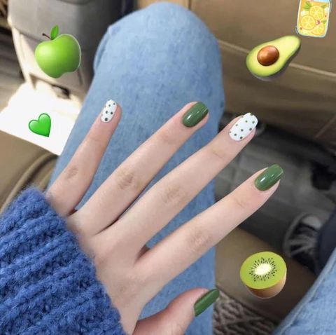 Olive Green Nail Patch