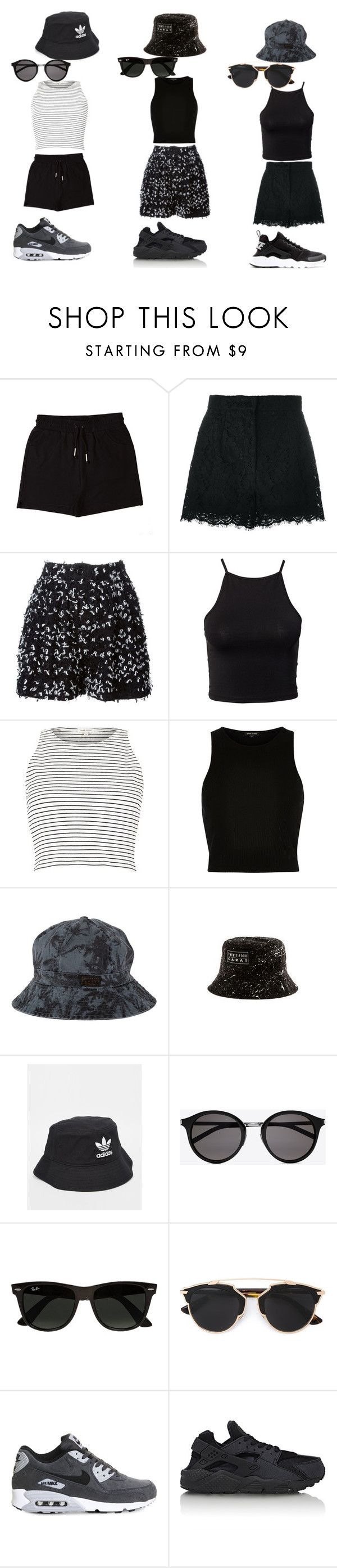 """""""Bucket Hats outfits"""" by fernandacastillo103 on Polyvore featuring &nd B, Dolce&Gabbana, Julien David, NLY Trend, River Island, Billabong, adidas Originals, Yves Saint Laurent, Ray-Ban and Christian Dior"""