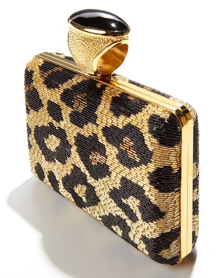 TOM FORD | Leopard Beaded Ring Clutch
