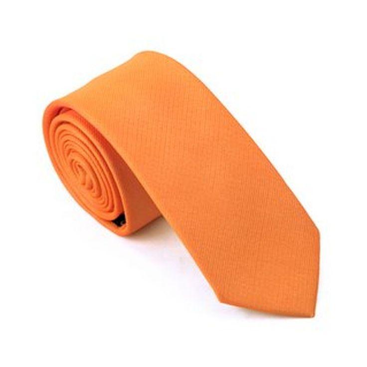 Jason&Vogue SlimLine Designer Krawatte schmal in orange