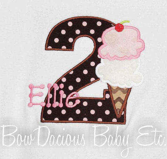 Custom Boutique Personalized Ice Cream ConeCream Bday, Personalized Ice, Custom Boutiques, Cones Numbers, Ice Cream Birthday Shirts, Birthday Outfit, Boutiques Personalized, Numbers Birthday, Ice Cream Cones