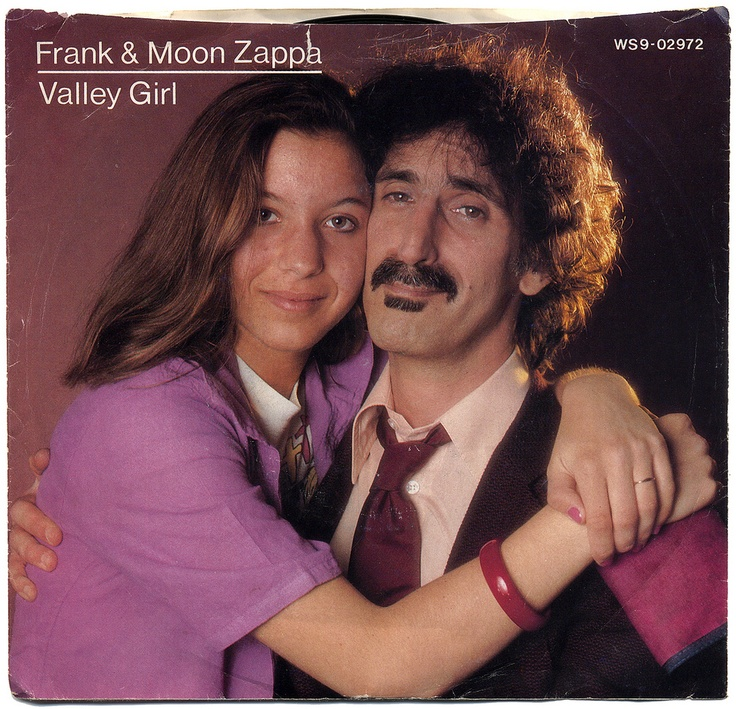 "Frank & Moon Zappa ""Valley Girl"" (1982) — 45 rpm Record Sleeve"