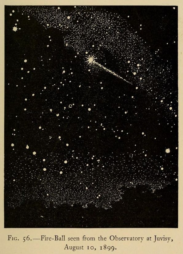 Fig 56. Fire ball seen from the Observatory at Juvisy, August 10, 1899.