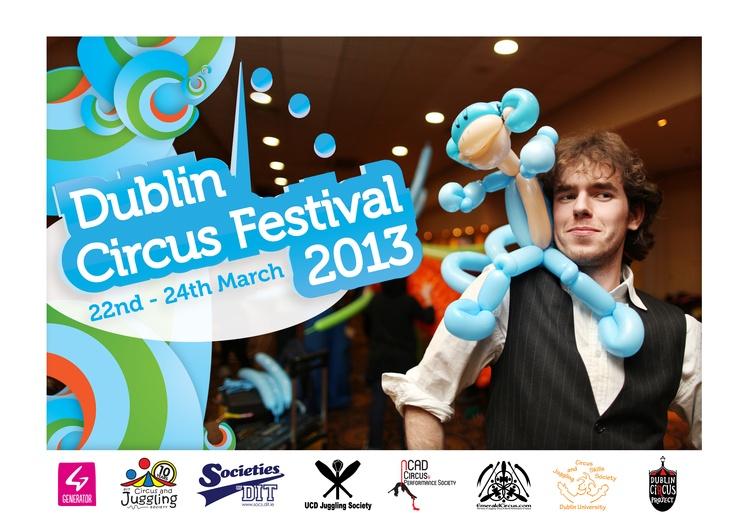 Teaser posters for Dublin CIrcus festival 2013