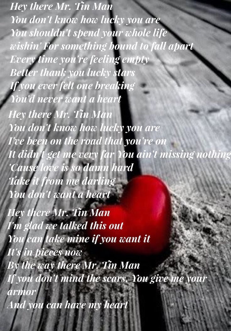 216 best love these lyrics images on pinterest song for Words to tin man by miranda lambert