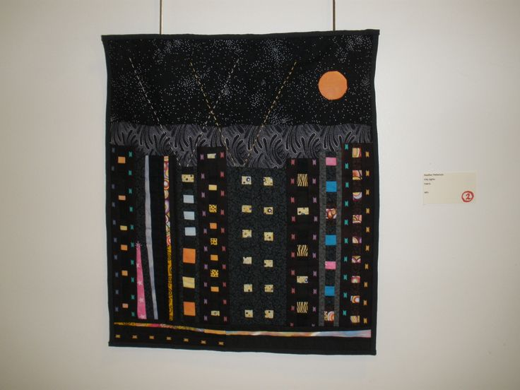 """City Lights"" by Heather Patterson, Etobicoke Quilters' Guild"