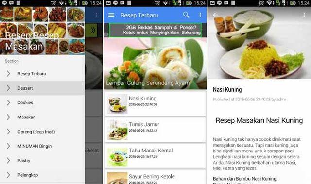 10 Aplikasi Android Resep Masakan Terbaik Dan Terlengkap Resep Masakan Indonesia In 2020