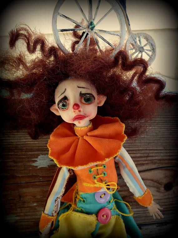 Zano de Bouffon/Clown/clay/ArtDoll/HandmadeDoll/Sculpture/Art/